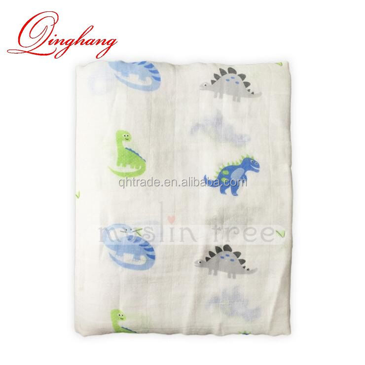 47''X 47'' Large Muslin Swaddle Best Soft Unisex for Boys or Girls Perfect Baby Bed Blanket