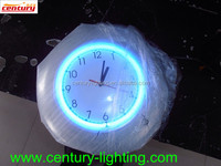 home decoration neon wall clock