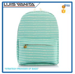 Cheap Sale Simple Green School Bag for Students
