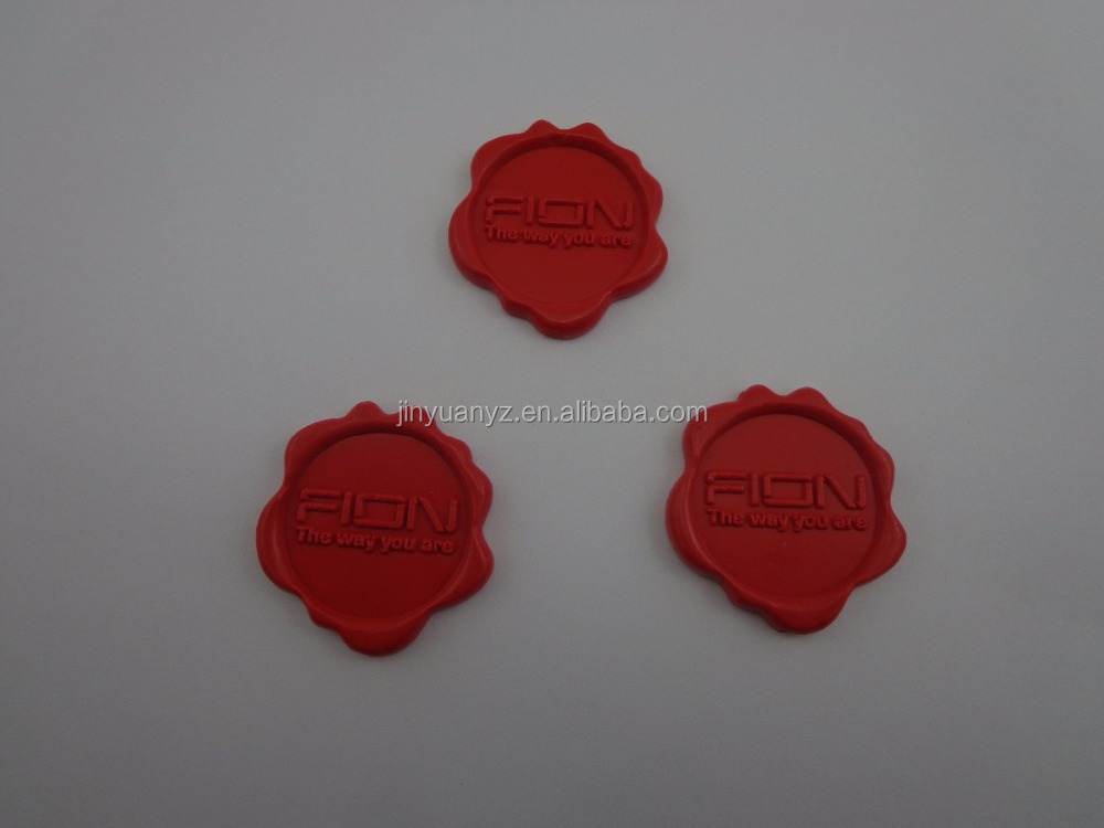 hot selling best quality Flexible red wax seal Stickers/Custom Logo Self adhesive wax seal sticker for envelope seal