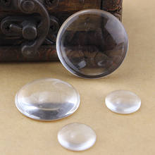 Loose Cabochons!!! Round Flatback Transparent Clear Glass Cabochons Beads