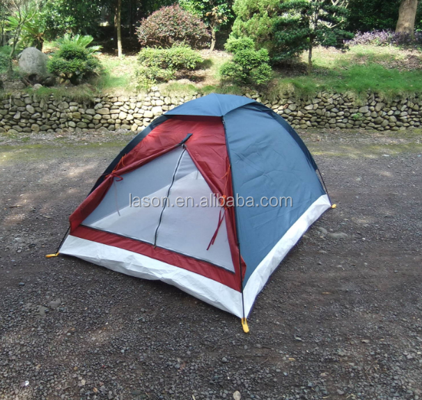 Outdoor leisure promotion cheap single layer 2 man waterproof camping tent sales