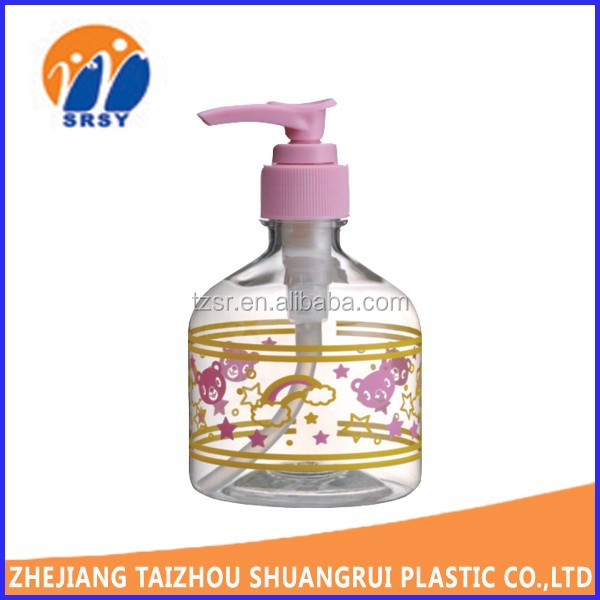 2015 NEW facial shampoo empty luxury decoratiove plastic cosmetic spray bottle with pump