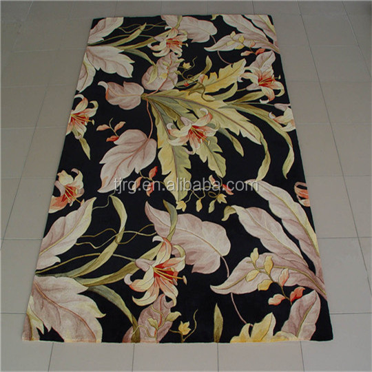 handmade prayer rubber backing floral christmas pattern hotel carpet