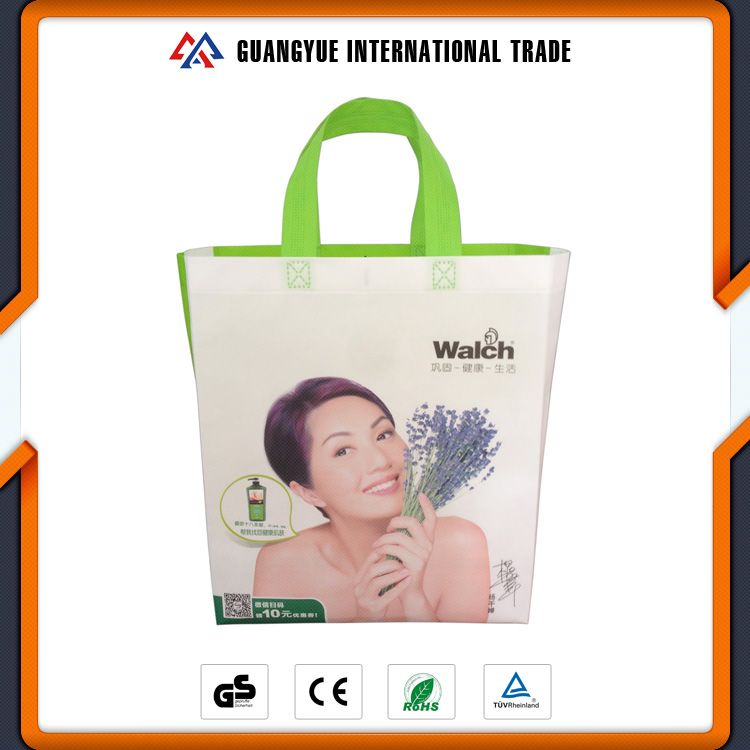 Guangyue Wholesale Hot Welded Non Woven Integrated Reusable Folding Utility Shopping Tote Bags