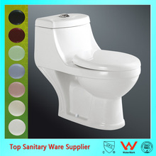 Bathroom wc washdown toilet one piece toilet seat