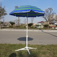 printed promotional square beach umbrella top selling heavy duty metal mesh umbrella