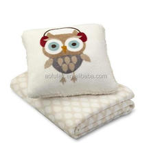 AOFU Carton Functional Comfortable 2 In 1 Travel Pillow Blanket For Wholesale for Children blanket that folds into pillow