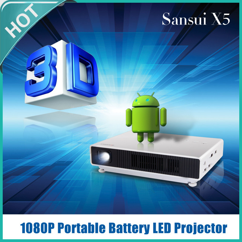 The newest 1000 ansi lumens mini projector DLP led projector with bluetooth