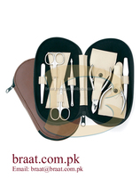 manicure set in black case /manicure set leather/manicure set cosmetic tool