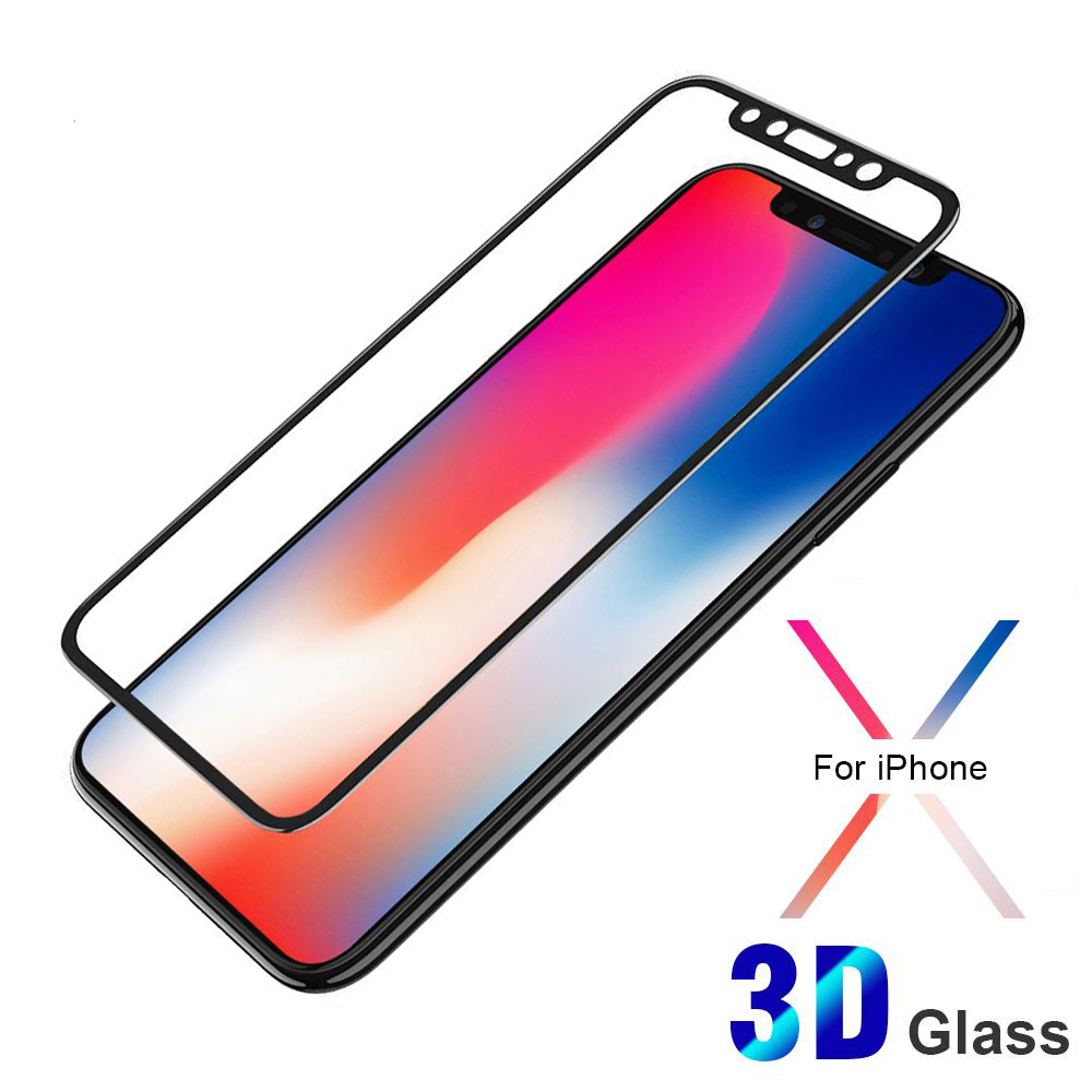 2018 New 3D Japan Tempered Glass Screen Protector Soft Edge For iPhone 6 7 8 X Screen Protector