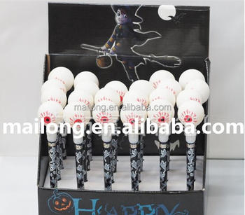 Halloween Evade glue eye ball pen Tapping on the light pen Creative gift pen