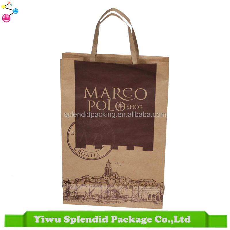 Yiwu Supplier Good Quality Customized Printed Kraft Paper Bag
