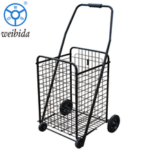 WBD Amazon hot sell factory price black load 80kg personal folding shopping trolley cart