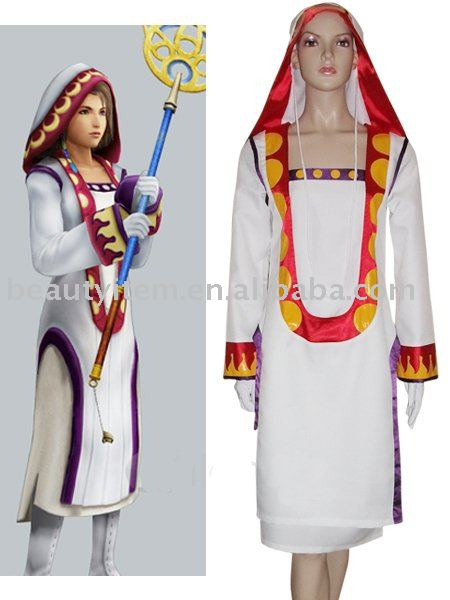 Final Fantasy XII Yuna White Mage Halloween Cosplay Costume Custom Made