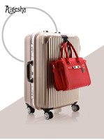 ABS + PC trolley suitcase luggage / travel luggage set with built in universal wheels