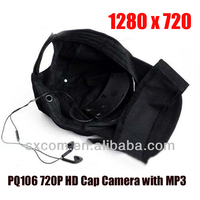 Hidden Cap/Hat Camera with MP3 Function & Remote Control Camcorder