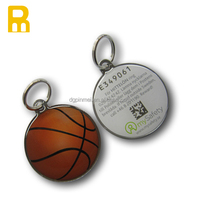Custom qr code basketball badminton key chain / sport key fobs