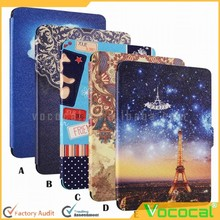 Protective Painting Pattern PU Leather Skin Cover Case for Kindle Paperwhite 1 2 3