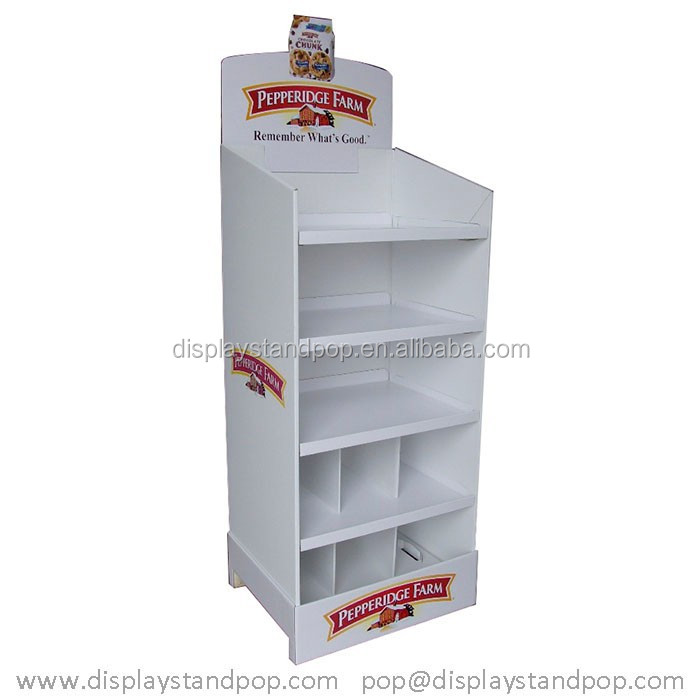 retail shelf/rack Cardboard floor display stand for customize canned Nestle coffee,drinks, cola with color,size,logo