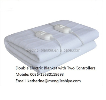 220V double controller electric blanket