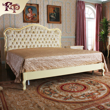 French Classic furniture solid wood bed Europe and America style home furniture bed