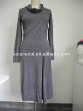 100% merino wool lady fashion casual dress/Career Dresses