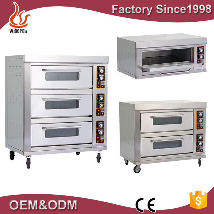 Junjian 3 Layers Manufacturer Stainless Steel Commercial Arabic Electric Bread Oven Bakery Equipment