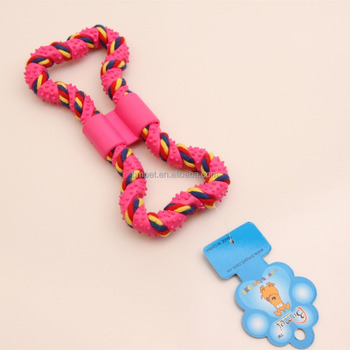Cotton Tough Natural Rope Dog Toys With TPR