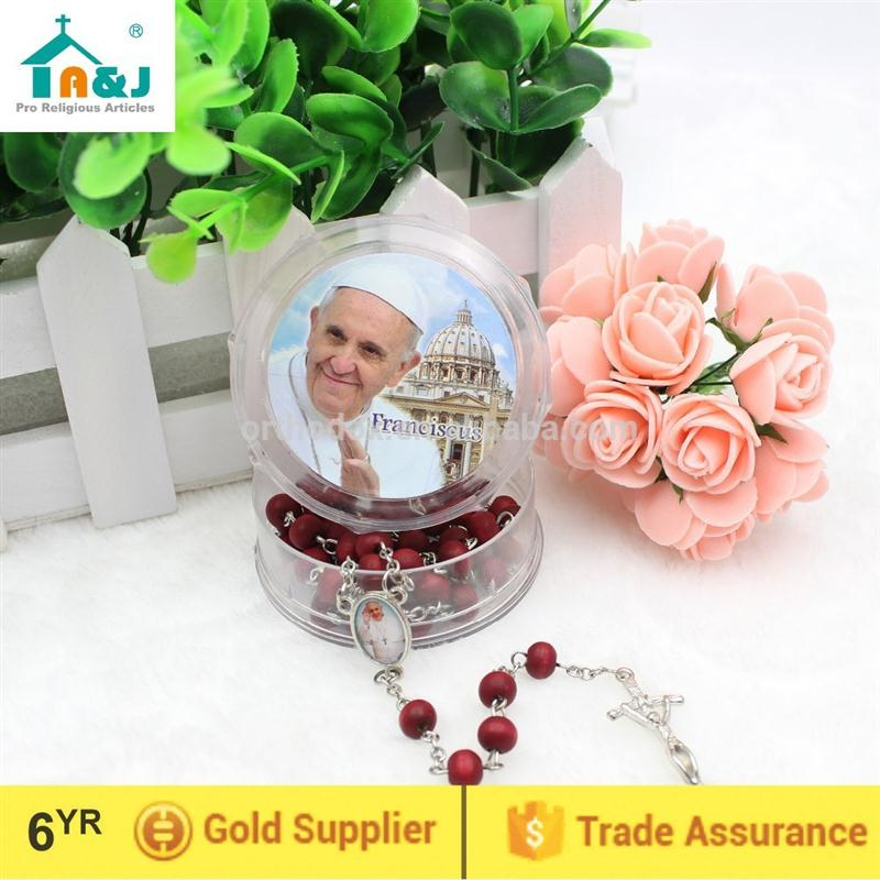 ODM availableOEM welcome wood rosary with religious images Customized