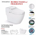 SMART TOILET with innovative BUBBLE WASH with FRAGRANCE with heated seat cover