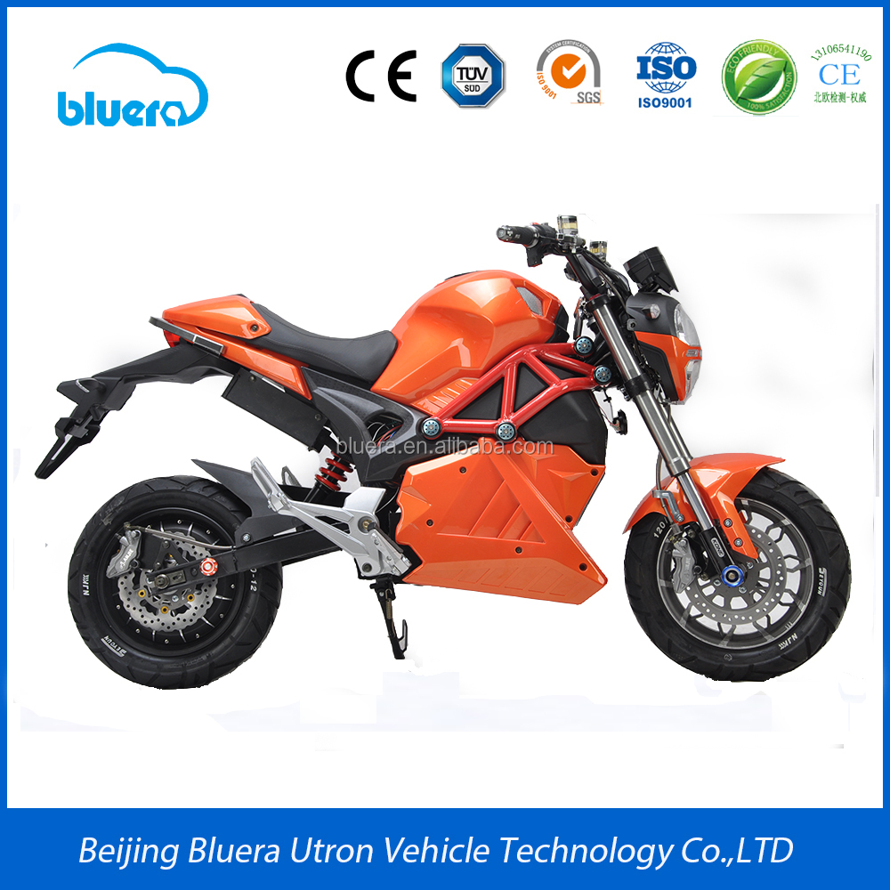 Cheap high power 72V 2000W racing electric motorcycle for sale