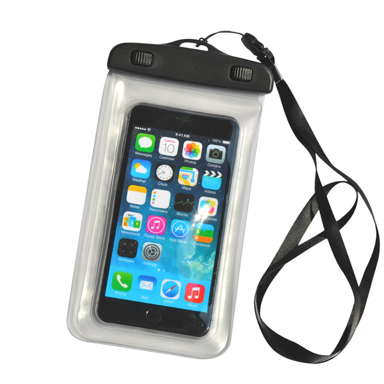 PVC Waterproof Mobile Phone Case Swimming Clear Water Proof Cellphone Bag Pouch for Iphone 6 plus