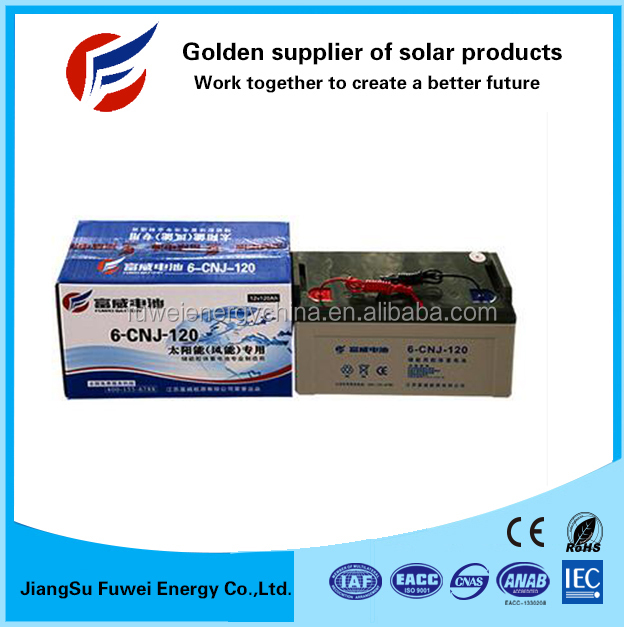 Hot product deep cycle gel 12V 120Ah copper top batteries for solar and wind system