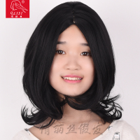 Aliexpress natural black synthetic hair full lace human hair wig