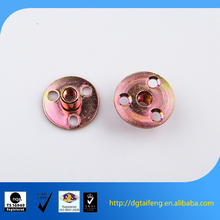anodized female thread furniture insert round base tee nut