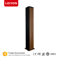 2.0 bluetooth wooden tower standing speaker player home system with usb FM SD AUX