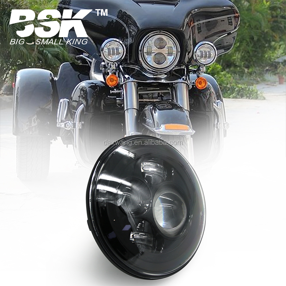 "7"" LED Headlight For Harley Davidson MOTORCYCLE CHROME PROJECTOR DAYMAKER HID LED LIGHT BULB Jeep Wrangler LED Headlamp"