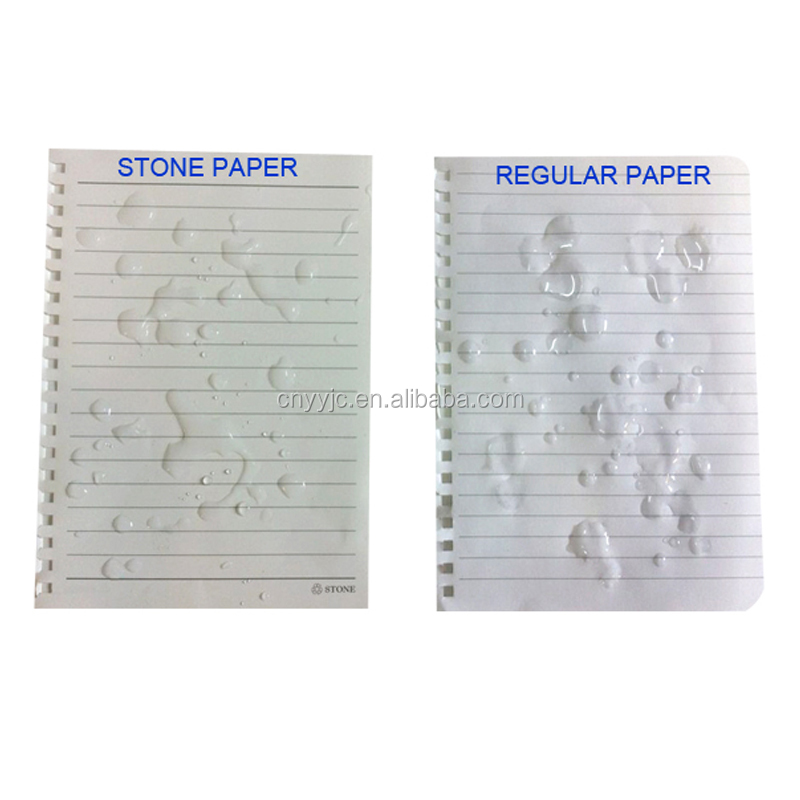 Eco friendly notebook with waterproof stone paper and ball pen