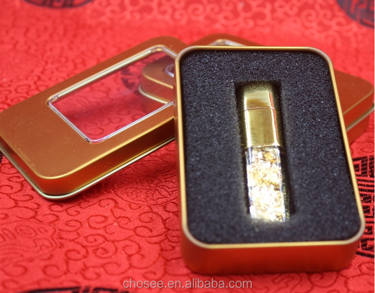 Promotional Business festival gifts gold plated USB