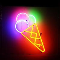 ice scream neon outdoor advertising 3d acrylic led channel letter sign display neon letter light wholesale