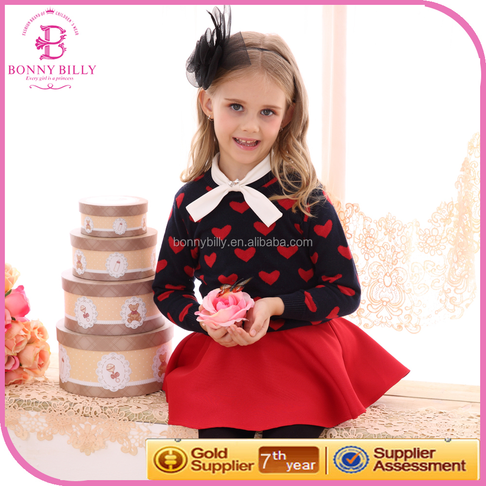 Wholesale Lovely Children Boutique Clothing Fall 2015 Girls Boutique Clothing
