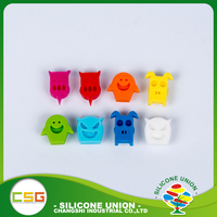 Multicolour cute novelty silicone wine glass drink identifiers