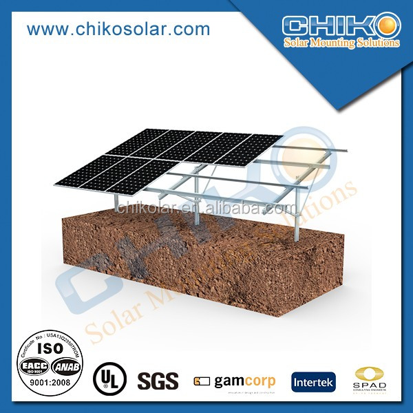 Piling ground solar mounting