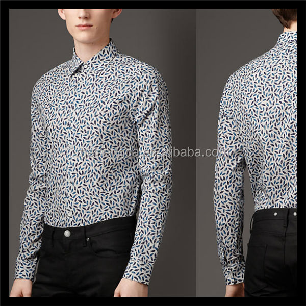 Customize high quality men's latin dance shirts tops