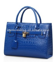 Fashion Replica Brand Designer Hot Sale Corcodile Leather Blue Jasmine Same Style Handbag For Ladies Women Tote Bag In Stock