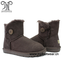 faux fur lined leather ankle boots for men