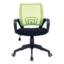 Mesh plastic colorful mid back office chair ergonomic meeting furniture with wheels