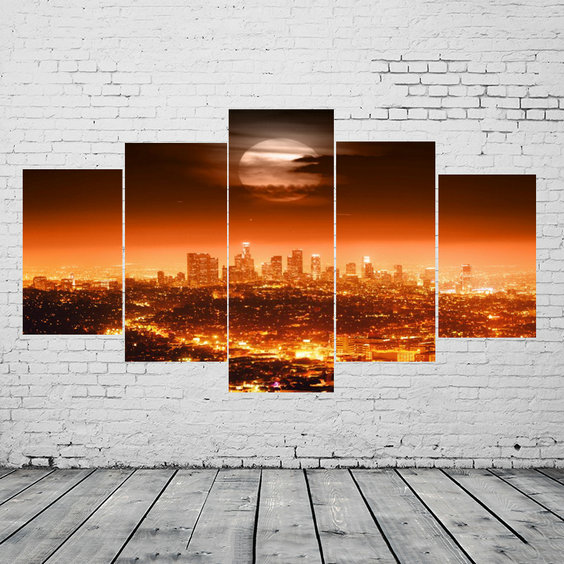 Printed giclee printings art on canvas hotel decor artwork