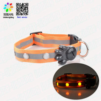 Pet Dog Cat Puppy Safety Nylon Glow Collar Waterproof LED Light Adjustable Pet products Optional personalized dog collar